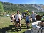 randonnée à la journée avec nos ânes