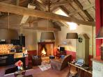 Living space of La Cuisine d'Alice holiday home in Le Maine