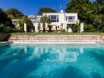 Sparkling blue pool