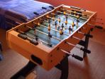 Table football (foosball) to hone the skills on wet days or after dark.... great fun!