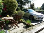 Patio furniture for 4, parking for 2 cars immediately infront of the cottage. Catches sun all day.