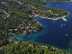 Beautiful Island of Solta with view on Rogac