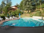 Great and very large pool with gates so very safe also for small children.