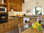 The oak fitted kitchen/dining room