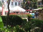 al fresco eating in plaza de la flores 5 minutes walk