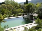 The Bassin (swimming pool) set in the extensive garden
