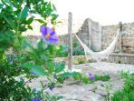Private garden with hammock