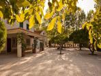 Villa and courtyard