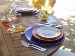 Intimate elegant dinners al fresco.  Meals can be provided at cost. Consult owner.