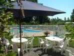 The cafe/pool terrace