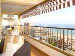 Panoramic view from the luxury terrace