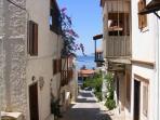 Kalkan's beautiful and historic old town just 2 minutes walk away