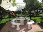 BBQ area and children's playground