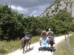 Horse riding in the Sirente mountains