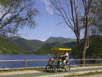 Cycling round nearby Scanno lake
