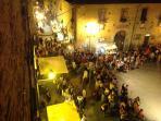 Esterno hotel festa medievale