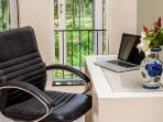 Small office area with free wifi throughout the Villa