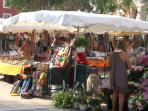 Browsing for bargains in Port Grimaud market