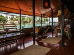 Enjoy the authenticity of the cozy wooden interior