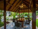 Villa Raeya outdoor dining and gazebo