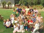 A group partaking in our summer farm camp