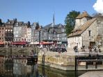 The pretty fishing town of Honfleur