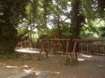 Park next to entrance