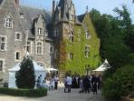 Ideal for a private event, weddings, celebrations with accomodation in the Chateau and Lodge