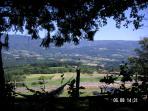 vieuw on the mountain range of the Forez