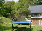 Upper lawn with table tennis and pool