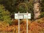 Road sign in Inverarish village