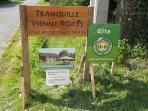 our Rochechouart gite is Gites de France approved