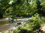 The River Lune (3 Minutes walk from the Cottage)