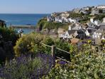 View of port isaac from garden