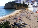 Stunning Carvoeiro beach with flat access for the young and elderly
