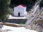 Local church in the mountains near Agia Paraskevi