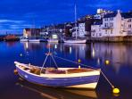 Whitby By Moonlight - Lower Harbour Near Whitby Swing Bridge