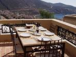 Dining Terrace and View Across Kalkan