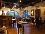 Snapshot of the interior of the restaurant which is just a stroll across the lawns..
