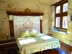 Spacious rooms with sunlit king-size beds.