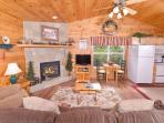 RIVER SOUNDS #121- Living Room with Fireplace & Flat Screen TV