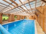 Beautiful  heated indoor swimming pool and sauna ,Pure luxury.
