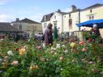 Monpazier's annual flower fete in May is gorgeous