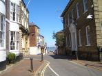 Cowes high street, close by