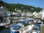 The old fishing village of Polperro is two miles away.