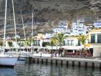 Puerto de Mogan marina with shops and restaurants