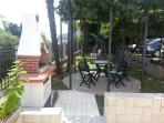 BBQ and garden