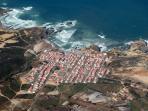 air view of village and main beach