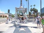 Hollywood Walk Of Fame is right at the corner
