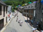 The Tour de France passes below your window